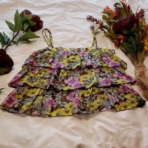 Anthropologie floral top in EUC